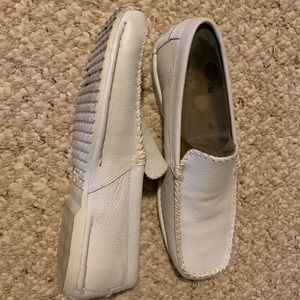 Men's GBX white leather shoes